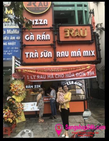 Sang nhượng quán ăn tổng hợp Trà sữa - Pizza - Gà rán mặt tiền đường Hậu Giang, phường 6, quận 6.